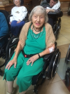 Senior in wheelchair living at Tree of life Care